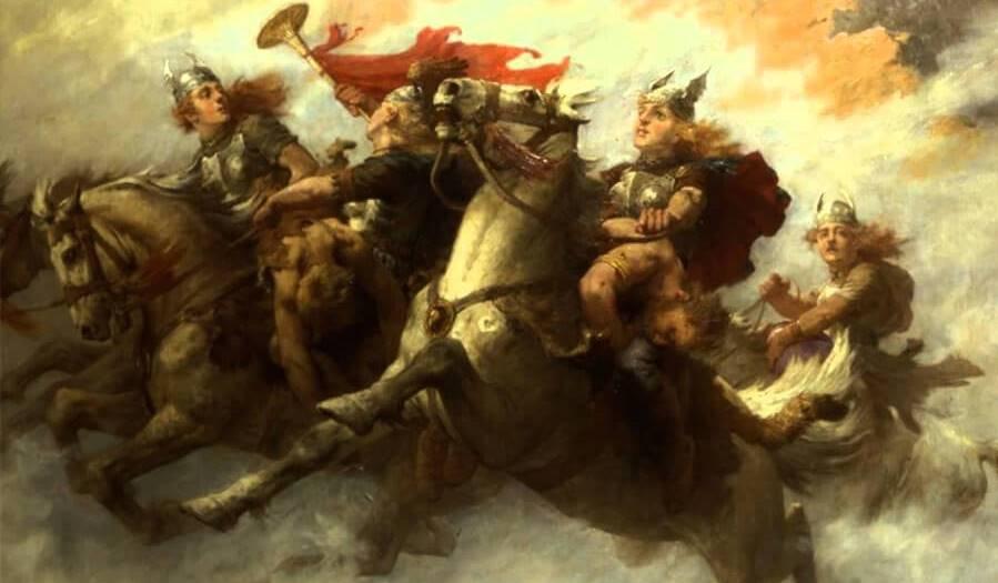 مشهد الفارسات المقاتلات من أوبرا الفالكيري للمؤلف فاغنر