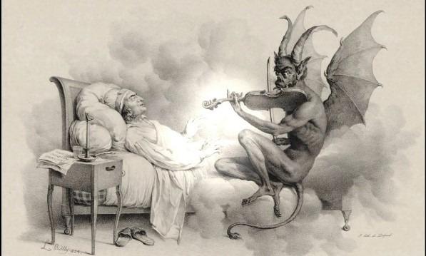Tartini inspired his work by devil