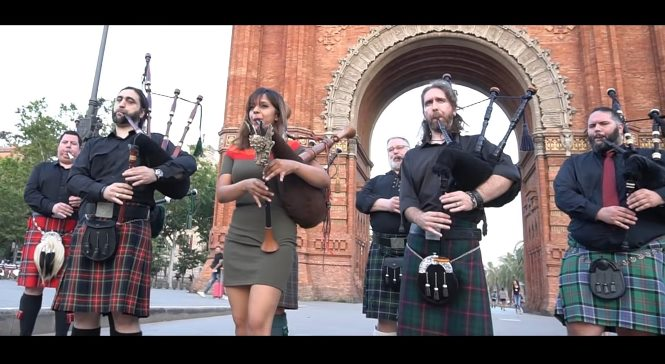 Amazing Grace On Bagpipes Instrument
