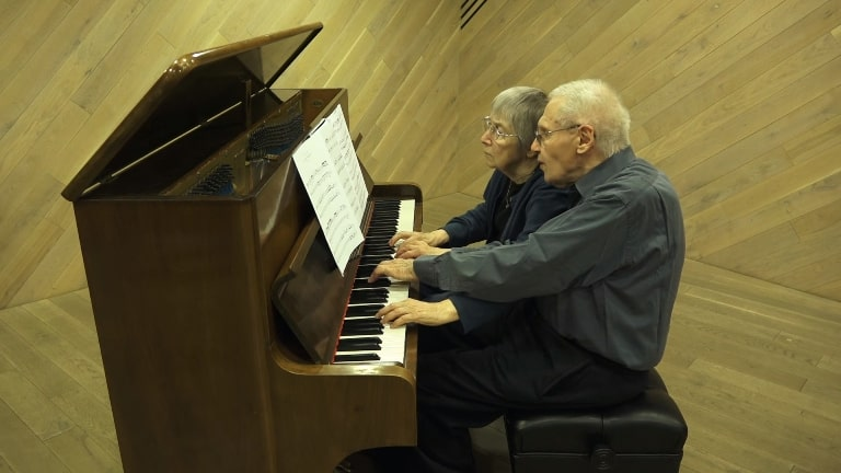 This 90-year old couple play Bach together will stun you!
