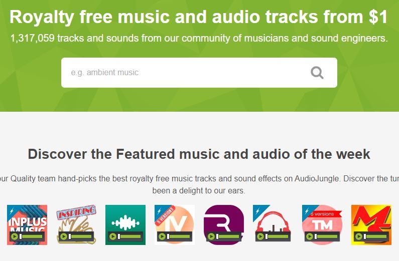 موقع AudioJungle موسيقى بدون حقوق
