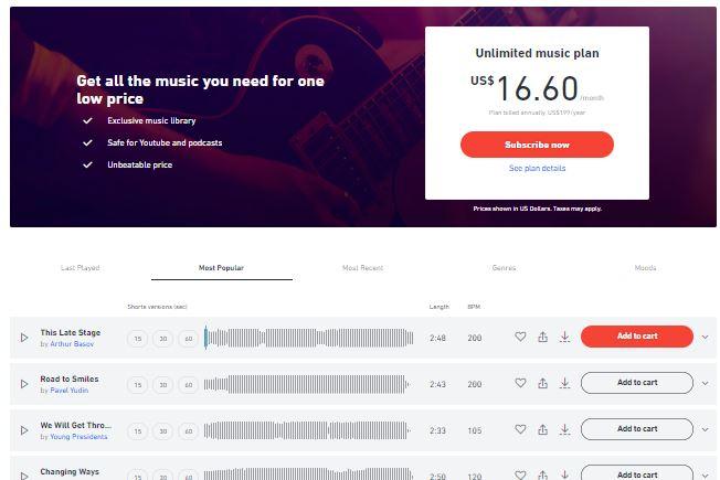Shutterstock شراء موسيقى بدون حقوق