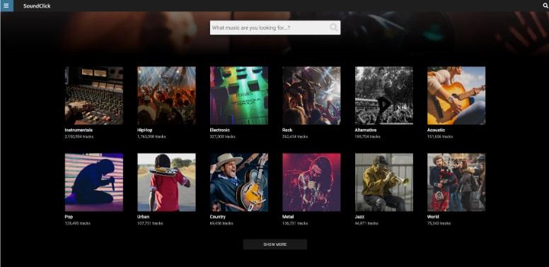 موقع ساوند كليك SoundClick هو أفضل مكان لتنزيل الموسيقى