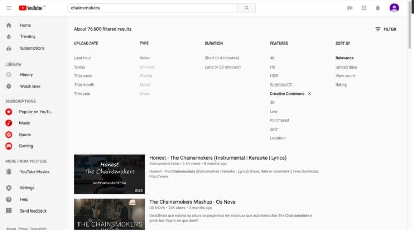 youtube creative commons cc